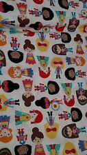 Robert Kaufman 100% Cotton Fabric Colour 'Super Kids' Design #14155 by Ann Kelle