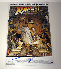GEORGE LUCAS INDIANA JONES RAIDERS OF THE LOST ARK SIGNED MOVIE POSTER COA