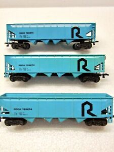 "Lot of 3 Bachmann HO ""The Rock"" 4 Bay Open Hopper Cars 133274"