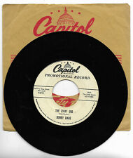 BOBBY BARE-CAPITOL 3771 PROMO ROCKABILLY 45 RPM THE LIVIN' END VG CLEAN LABELS
