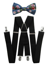 Axy Men's Braces-X Form 3,5cm Wide With Bow Tie 4 Stable Clips HFLI35