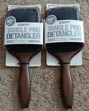 (2) Conair Tangle Pro Detangler Wood Paddle Hair Brush