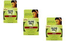 3 X Organic Root Stimulator Olive Oil Edge Control Hair Gel (63.8g)