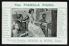1912 Moon & Sons River Street Truro Pianola Advertising Postcard B529
