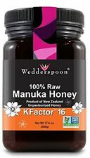 Wedderspoon 100% Raw Premium Manuka Honey Active KFactor 16+ 17.6 oz Jar - NEW!