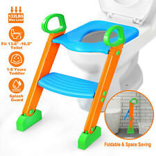Kids Baby Potty Training Seat With Step Stool Ladder Child Toddler Toilet Chair