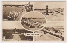 Dorset postcard - Weymouth (Multiview showing 5 views)