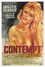 Le Mepris Contempt Brigitte Bardot Godard Movie poster print 32