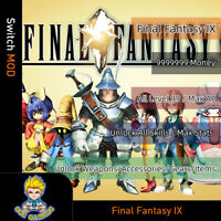 Final Fantasy IX (Switch Mod)-Max Money/Level /AP/Stats/Weapons/Gears