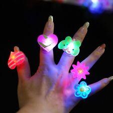 1pcs Cartoon Flashing LED Light Glow Finger Jewelry Party Blinking Ring Toy New