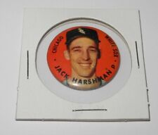1956 Topps Baseball Pin Button Coin Pinback Jack Harshman Chicago White Sox v3