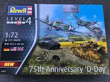 "1/72 Plastikbausatz-Set 75th Anniversary ""D-Day"" REVELL 03352 4 Modelle+Diorama!"