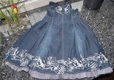 "°~° PAMPOLINA ~ supertolles Kleid mit ""Unterrock"" ~ Jeansoptik ~ Gr. 140  °~°"