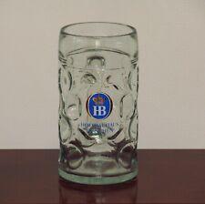 Hofbrauhaus Munchen one Liter Dimpled Glass Austria