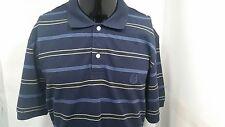 Chaps Shirt Large Long  Polo Short Sleeve Stripe  Mens Shirts