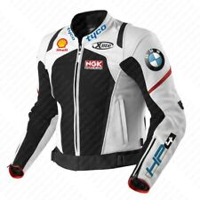 BMW HP4 Motorbike Genuine Leather Jacket Motorcycle Leather Jacket Men / Women