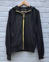 Crosshatch NXT/GEN Lightweight Sports Jacket Black Size M Yellow Zip Detail