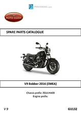 Moto Guzzi parts manual book 2016 V9 Bobber