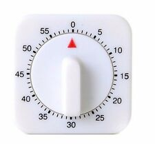 1Hr/60Min Mechanical Timer Game Count Down Counter Alarm Kitchen Cooking Tool !