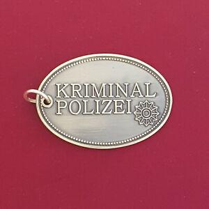 Kripo Miniaturmarke Metall-Schlüsselanhänger # Polizei #Kripomarke A1