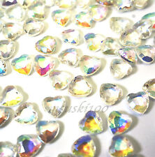 1000 Table Confetti Hearts Wedding Diamond Crystal AB Iridescent Scatters 6mm