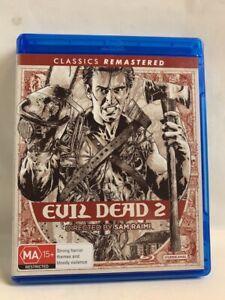 EVIL DEAD 2 rare Australian 2 disc BLU-RAY cult horror comedy