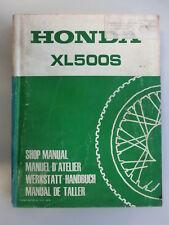 HONDA XL 500 S WERKSTATTBUCH