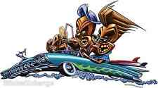 Tiki Low Rider Surfers Sticker Decal Artist The Pizz P61