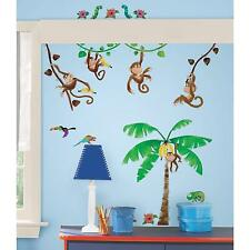MONKEY BUSINESS stickups 41 decals banana tree vines scrapbook wall stickers