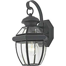 Black Outdoor House Light Porch Lamp Garage Door Outside Solid Brass NEW.