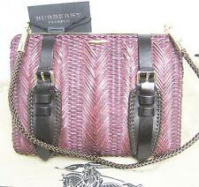 $1,695 Burberry Prorsum Beetroot Woven Clutch Women Hand Shoulder Bag Wallet A