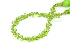 56ct Peridot Treadrop Briolette Beads 5-5.5mm A 85181