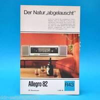 Allegro 82 Hf-Stereosuper 1968 Folleto Publicidad Dewag Hoja de Anuncio R43 Rda