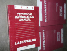 1990 PLYMOUTH LASER EAGLE TALON Service Shop Repair Manual SET FACTORY OEM x