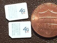 Lot of 100 US cellular nano sim cards