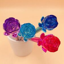Creative Roses Bloom Diamond Head Crystal Ball Pen Stationery Pens Student Gifts