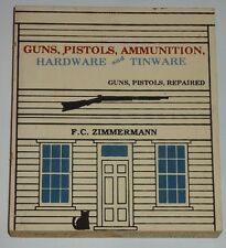 The Cat's Meow Guns, Pistols, Ammunition Hardware Shop wood shelf sitter
