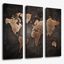 3 Pcs/Set World Map Modern Abstract Canvas Picture Print Wall Art Home Decor