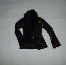 Barbie Fashion Fever  Doll Size Accessory - Black with Gold Accents Jacket