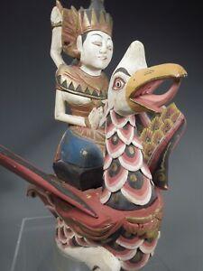 Fine Burma Mythological Bird Hintha or Hamsa w/ Queen seated on the back 20th c.