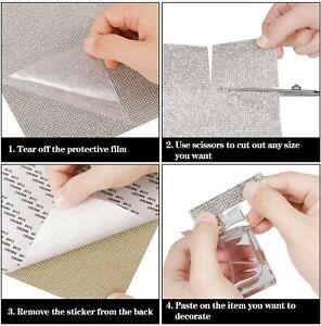 1 or 2 Crystal Rhinestone Sticker Sheets Diamante Self Adhesive 9.4 x 7.8 Inch