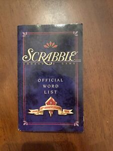 Scrabble 50th Anniversary Collectors Edition Official Word List & Guide