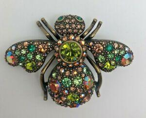 Vintage Joan Rivers Broach Critter Collection Bee Signed Swarovski Crystal J132