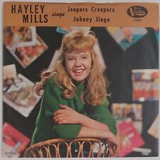 HAYLEY MILLS: Jeepers Creepers / Johnny Jingo USA VISTA 45 w/ PS Teen Annette