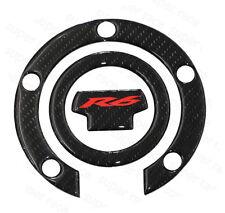3D Carbon Fiber Gas Cap Tank Cover Pad Sticker For Yamaha YZF R6 2001-2016