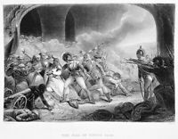 DEATH OF TIPU SULTAN TIGER OF MYSORE by BRITISH ~ 1872 Art Print Engraving RARE!