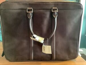 Coach leather briefcase brand new with tags