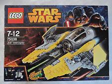 Lego Star Wars 75038-Jedi interceptor + Anakin + embalaje original Top estado O.S.