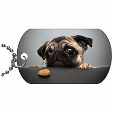 Pug Cookie Metal Necklace Pendant Dog Tag