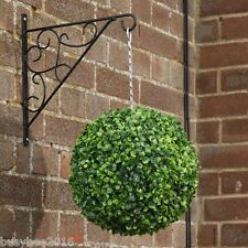 1x LARGE 33cm ARTIFICIAL LIGHT GREEN BUXUS BALLS TOPIARY HANGING BALLS
